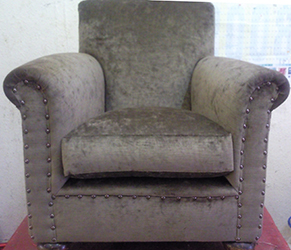 Club arm chair back to it's former glory after being fully re upholstered