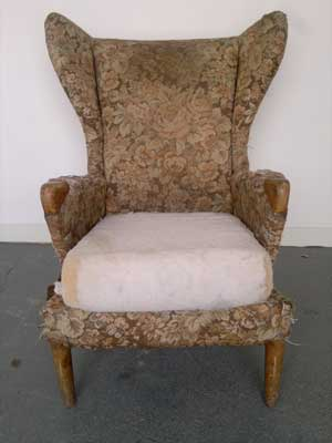 Parker Knoll Chair before re-upholstery
